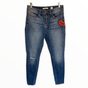 SP Black - Embroidery Skinny Jeans